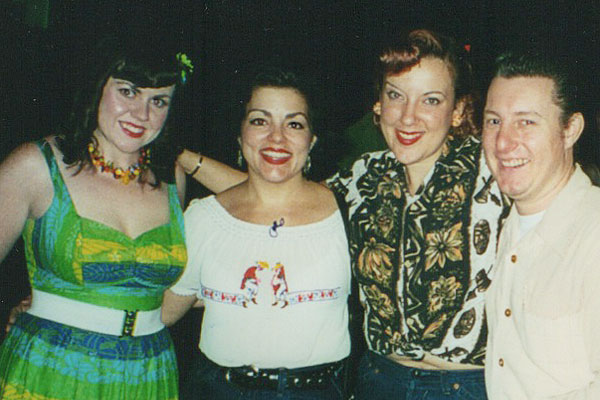 Marti Brom and The Casey Sisters at Greenbay Rockabilly Festival